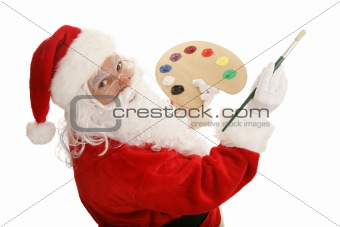 Artist Santa Paints