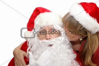 Santas Surprise Kiss
