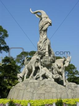 Five Goat Statue Yue Xiu Park Guangzhou