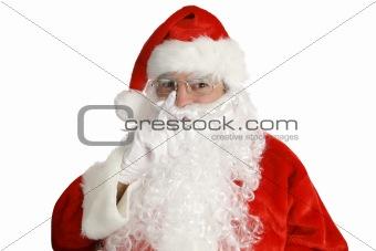 Santa Laying His Finger...