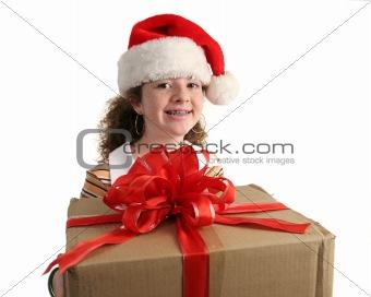 Christmas Girl With Braces