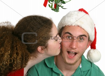 Surprised Under Mistletoe