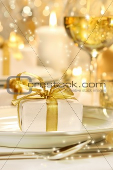 Little gold ribboned gift