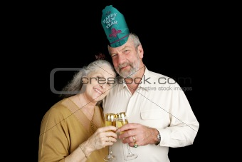 Mature New Years Couple