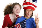 Patriotic American Kids