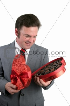 Valentine Guy Surprised by Candy