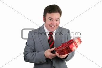 Valentine Guy Surprised