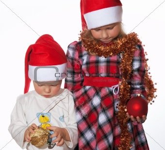 Chrisrmas: brother and sister