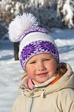 Girl in winter park