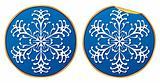 Round Snowflake Sticker