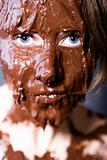 portrait of a face full of chocolate