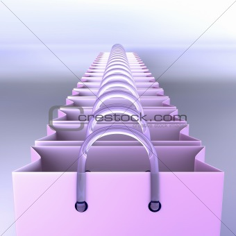 Line of shopping bags