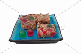 slices of fruitcake