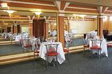 Restaurant with mirror walls