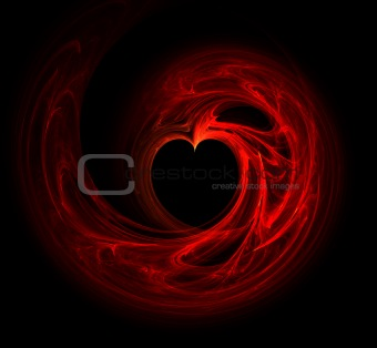 Abstract Heart Fractal