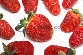 Fresh and ripe strawberry