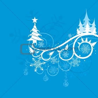 Christmas winter background, vector