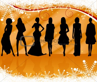 Fashion girls and boys - vector silhouettes