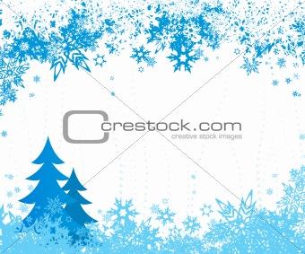 Winter illustration. Vector
