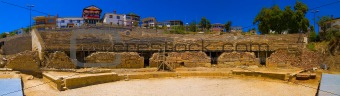 Ancient amphitheatre panorama