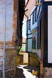 Narrow alley, summer period