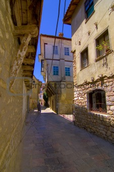 Ohrid old city alley
