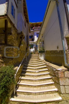 Stairs in old city of Ohrid