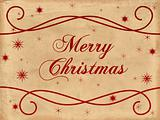 Merry Christmas old paper