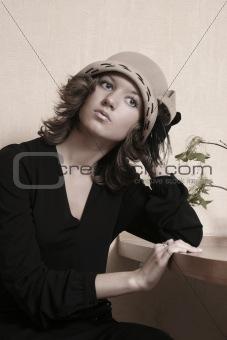 Portrait in a hat