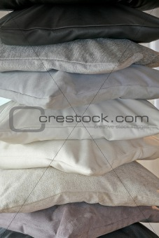 Greyscale pillows