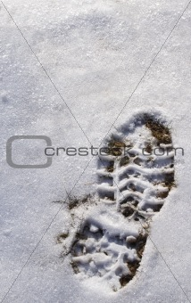 footprint on snow