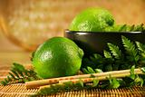 Limes with chopsticks