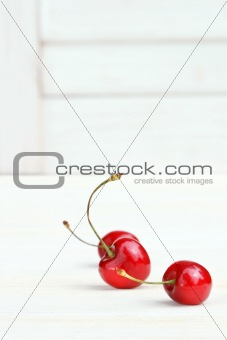 Three little cherries