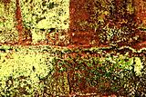 Grunge Painted Brick Wall