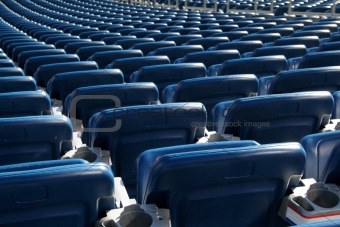 Blue Stadium Seats