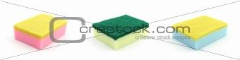 Colorful kitchen sponges