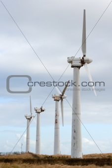 Four wind power generators