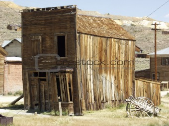 old vintage house. california ghost town Bodie.