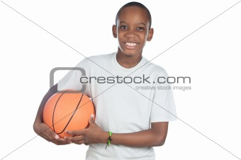 boy holding a basketball ball