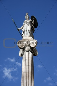 athena on pillar