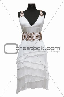 White female dress