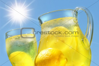 Cool lemonade on a hot summer day