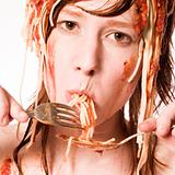 Eating spaghetti of my head