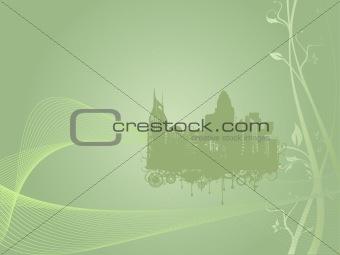grunge city background in grey