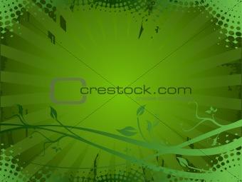 Grunge floral elements background, vector