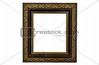 Old Picture Frame Gold and Black
