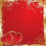 Valentines grunge background, vector