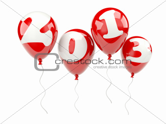 Air balloons with 2013 New Year sign