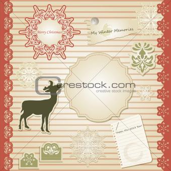 Vector Christmas Scrapbook