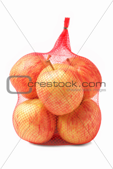 Apples in Plastic Mesh Sack